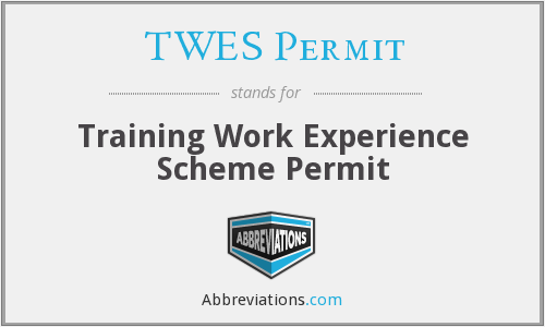 What does TWES PERMIT stand for?