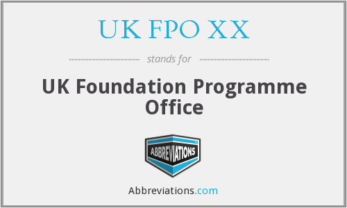 What does UK FPO XX stand for?