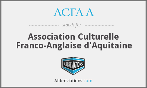 What does ACFAA stand for?