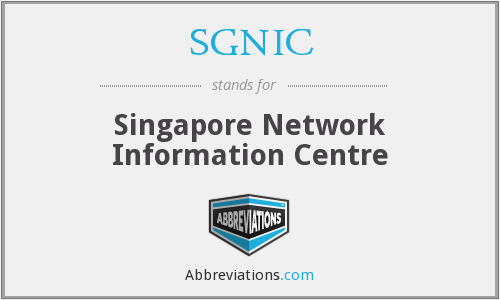 What does SGNIC stand for?