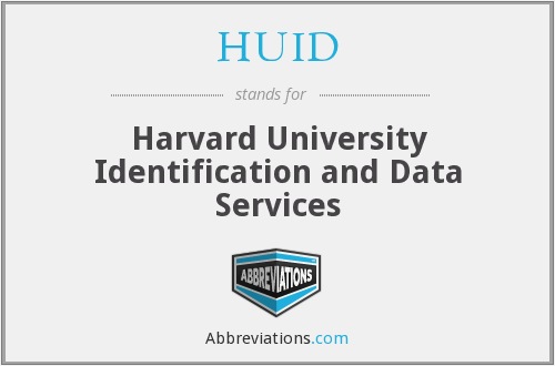 What does HUID stand for?