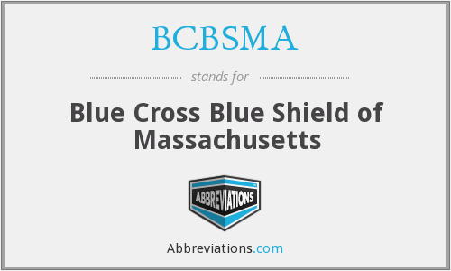 What does BCBSMA stand for?