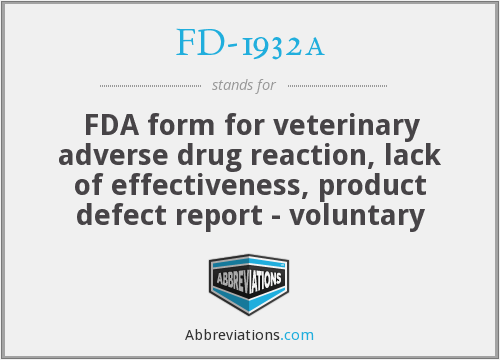 What does FD-1932A stand for?