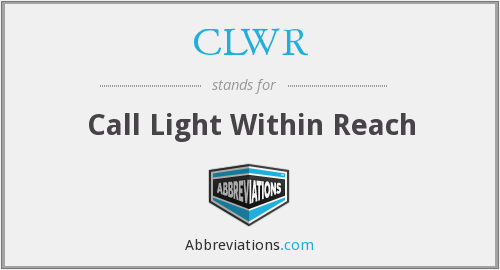 What does CLWR stand for?