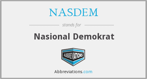 What does NASDEM stand for?