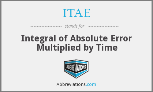 What does ITAE stand for?
