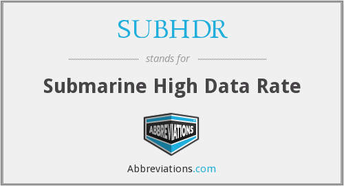 What does SUBHDR stand for?
