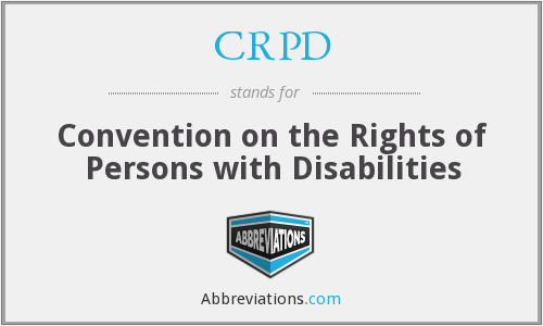 What does CRPD stand for?