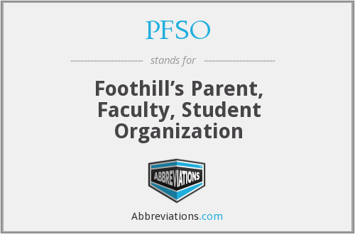 What does PFSO stand for?