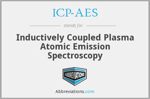 What does ICP-AES stand for?