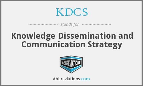 What does KDCS stand for?