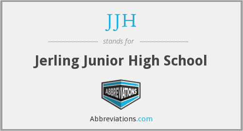 What does JJH stand for?