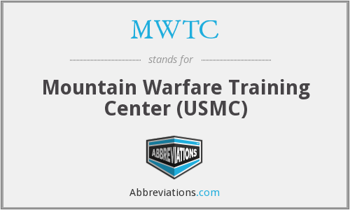 What does MWTC stand for?