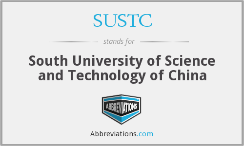 What does SUSTC stand for?