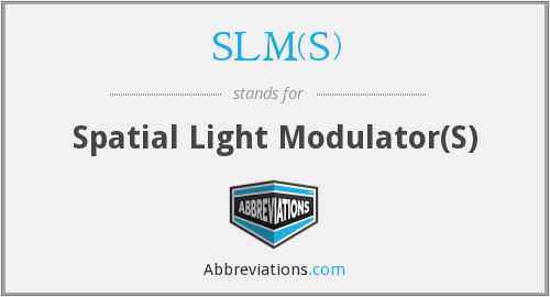 What does SLM(S) stand for?