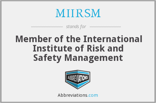 What does MIIRSM stand for?