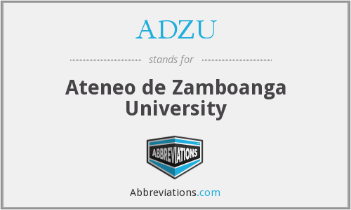 What does ADZU stand for?