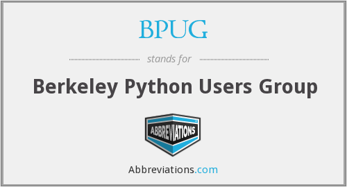 What does BPUG stand for?
