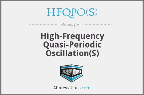 What does HFQPO(S) stand for?