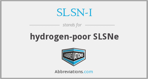 What does SLSN-I stand for?