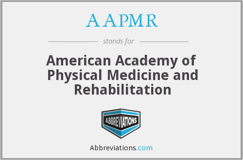 What does AAPMR stand for?