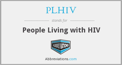 What does PLHIV stand for?
