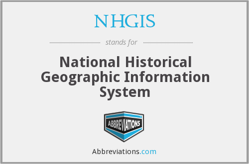 What does NHGIS stand for?
