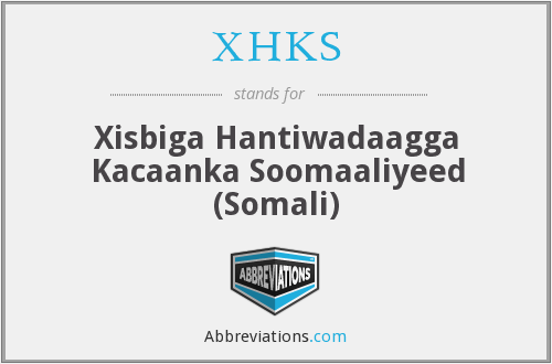 What does XHKS stand for?