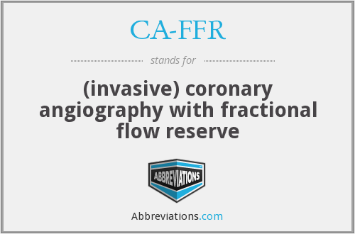 What does CA-FFR stand for?