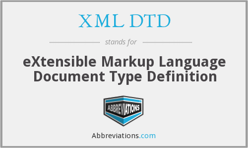 What does XML DTD stand for?