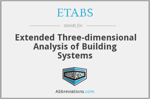 What does ETABS stand for?
