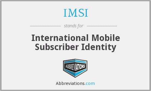 What does IMSI stand for?