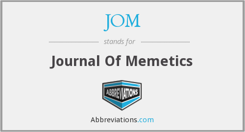 What does JOM stand for?