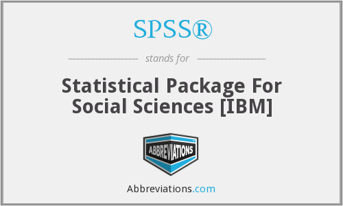 What does SPSS® stand for?