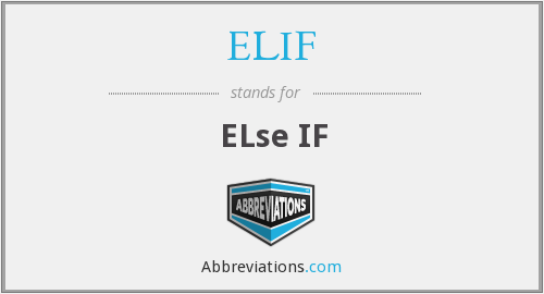What does ELIF stand for?