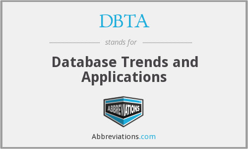 What does DBTA stand for?