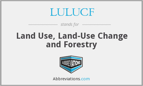 What does LULUCF stand for?