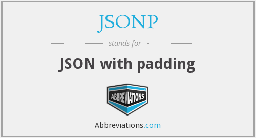 What does JSONP stand for?