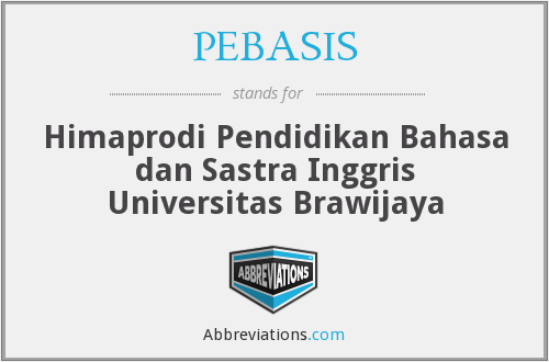 What does PEBASIS stand for?