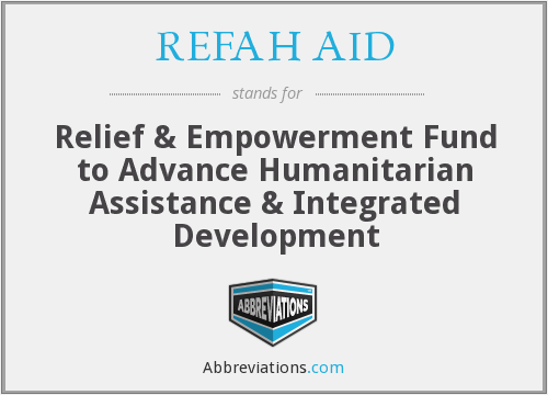 What does REFAH AID stand for?
