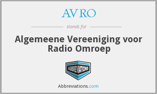 What does AVRO stand for?