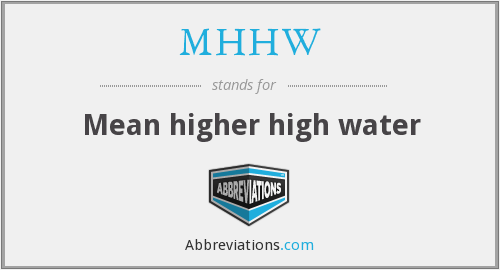 What does MHHW stand for?