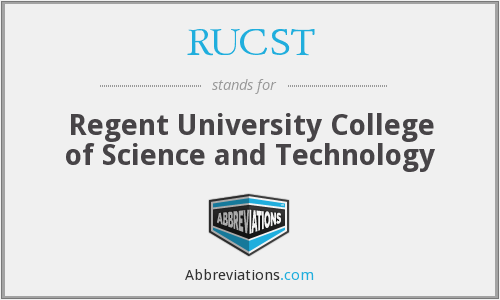 What does RUCST stand for?