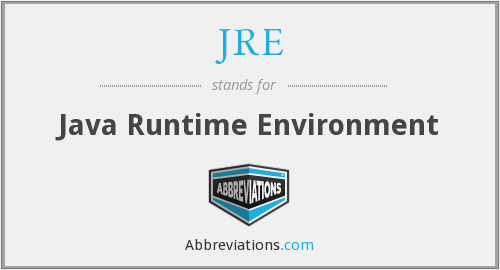 What does JRE stand for?