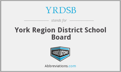 What does YRDSB stand for?