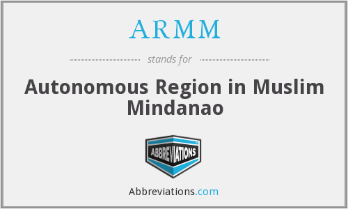 What does ARMM stand for?