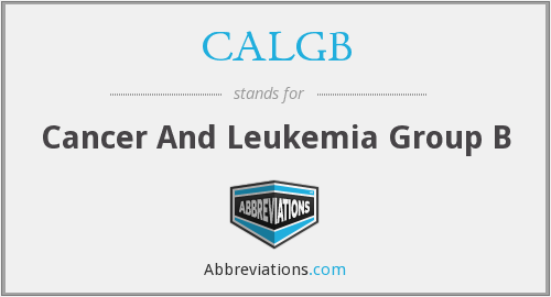What does CALGB stand for?