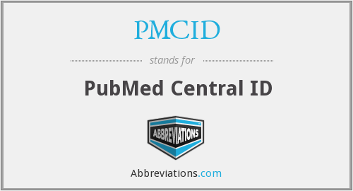 What does PMCID stand for?