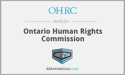 What does OHRC stand for?