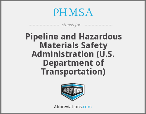 What does PHMSA stand for?